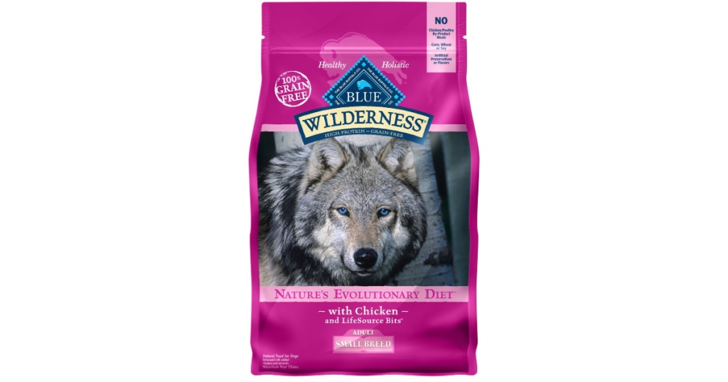 bag of blue wilderness dog food
