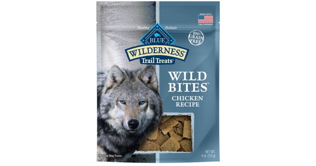 bag of blue wildness dog treats
