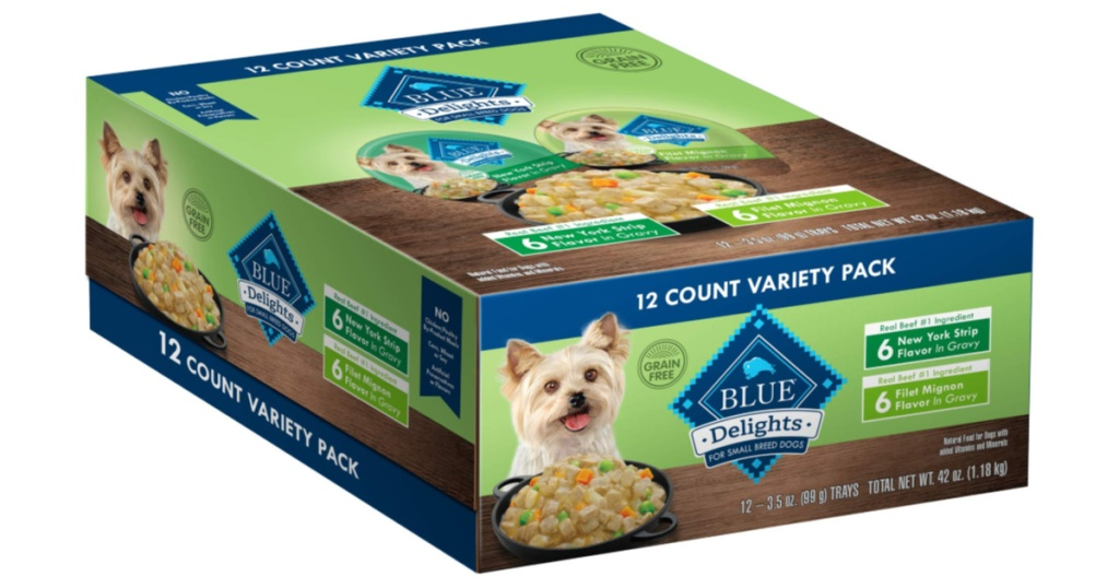 box of blue wildnerness dog treats