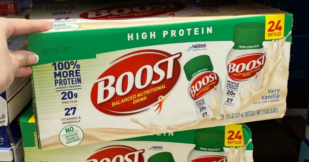 Boost High Protein drinks box