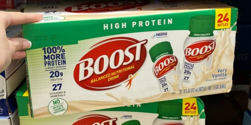 Boost High Protein Nutritional Drinks 24-Pack Only $15 Shipped at Amazon | Just 64¢ Per Drink