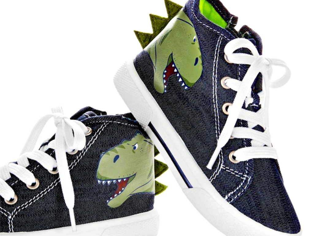 Boys Navy Dinosaur Nash Sneakers