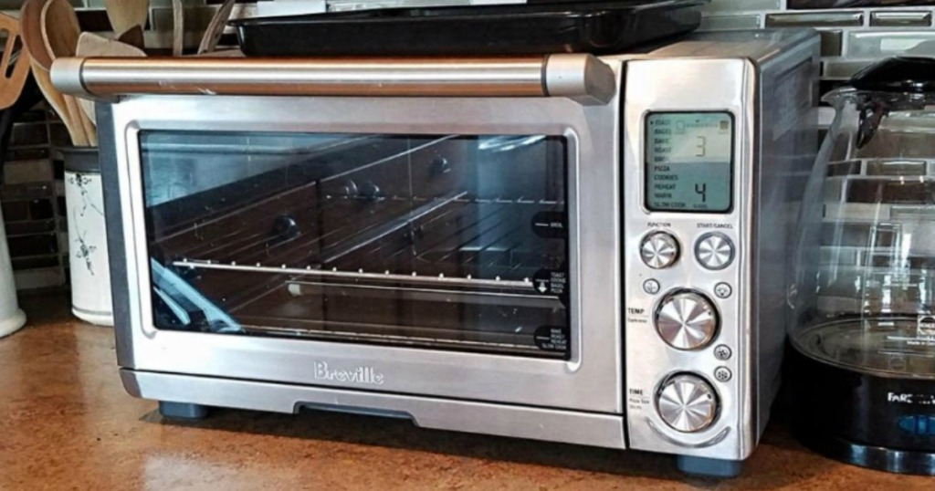 Breville Smart Oven Air Convection Toaster Oven sitting on a kitchen counter