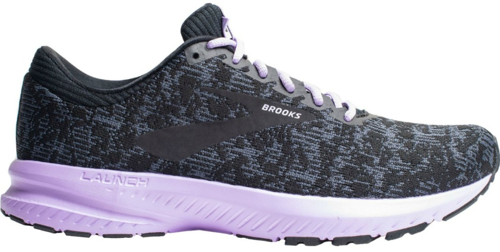 Women's gray and purple running shoes