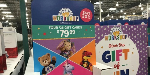$100 Build-A-Bear eGift Card Bundle Only $69.99 on Costco.com