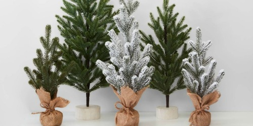 11 Burlap-Wrapped Flocked Christmas Trees + Over 60 Ornaments Just $52 Shipped at Target
