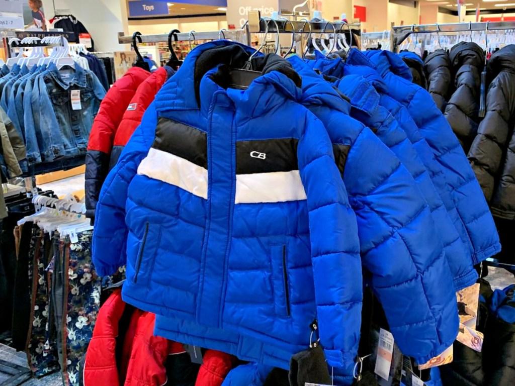 CB Sports Toddler Boys Colorblocked Puffer 2-Piece Jacket & Hat Set