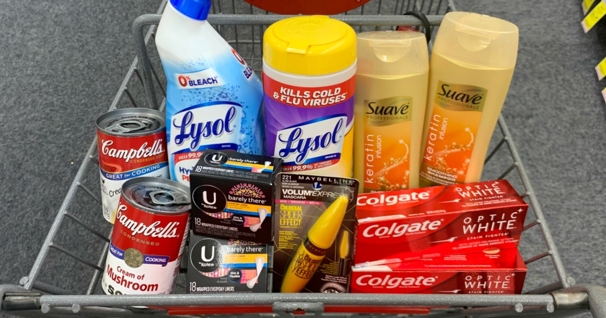 Basket of products at CVS