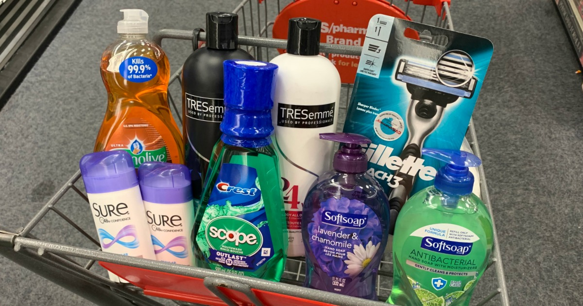 Products in basket at CVS