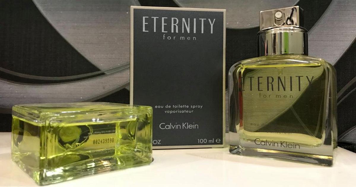 Calvin Klein Eternity Cologne Box and Bottles