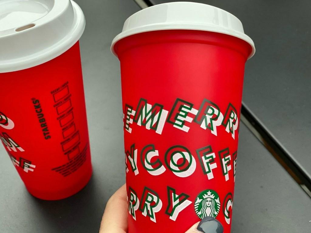 Starbucks Christmas cups