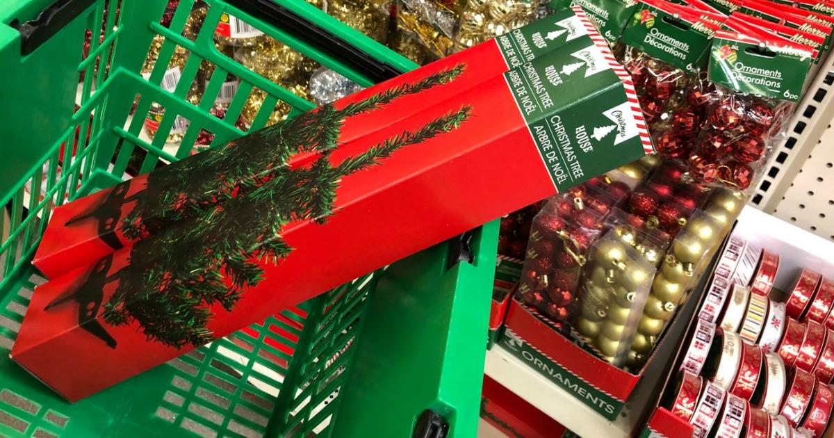 Diy Dollar Tree Farmhouse Style Christmas Centerpiece Hip2save