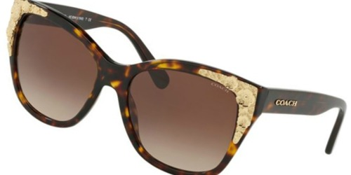Coach Women's Squared Cat-Eye Sunglasses Only $49 Shipped