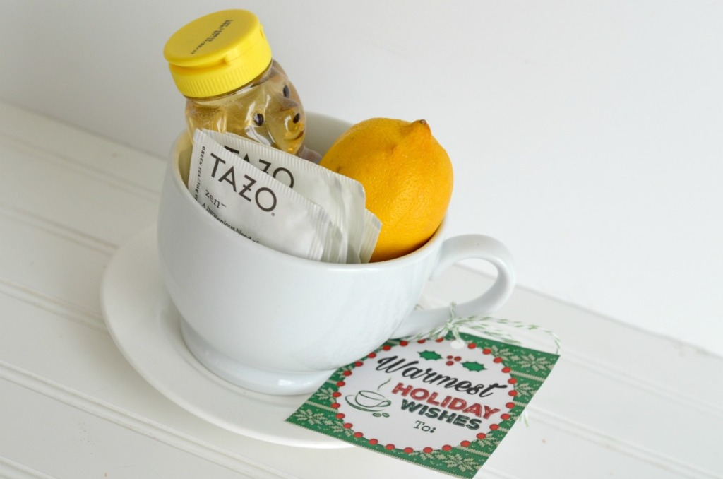 coffee mug and tea gift tag