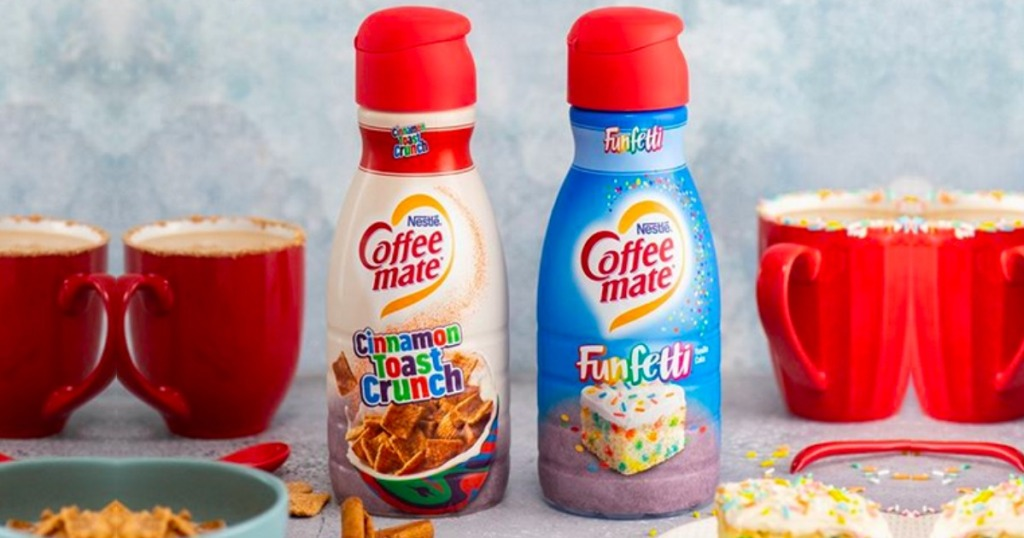 Bottles of Cinnamon Toast Crunch and Funfetti