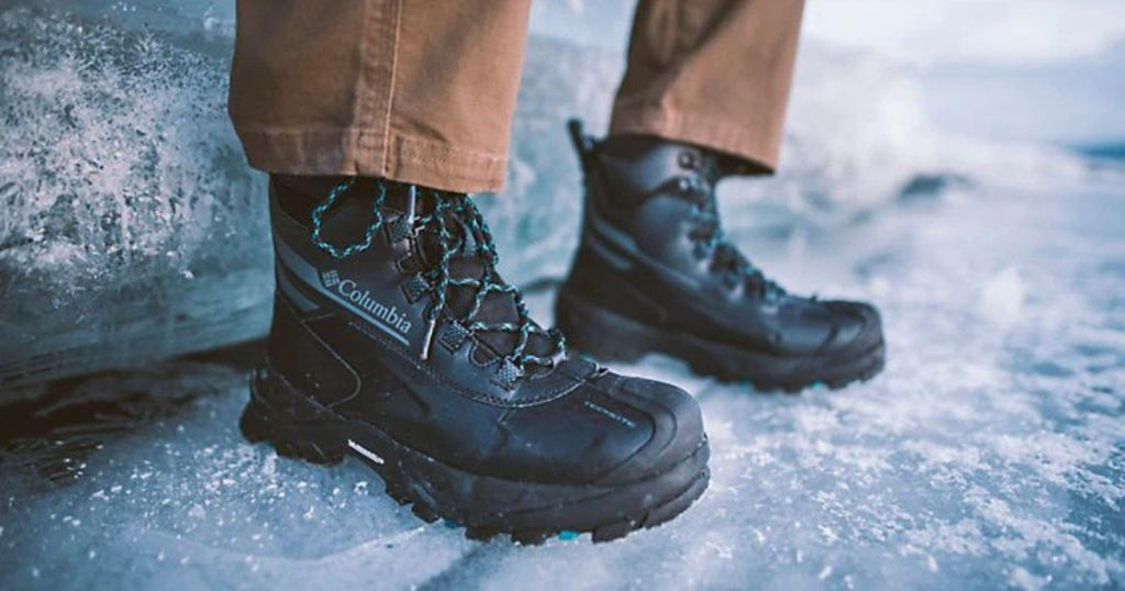 Columbia Bugaboot Plus IV Omni-Heat Winter Boots in the snow
