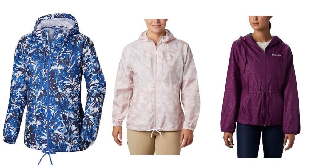 three columbia jackets