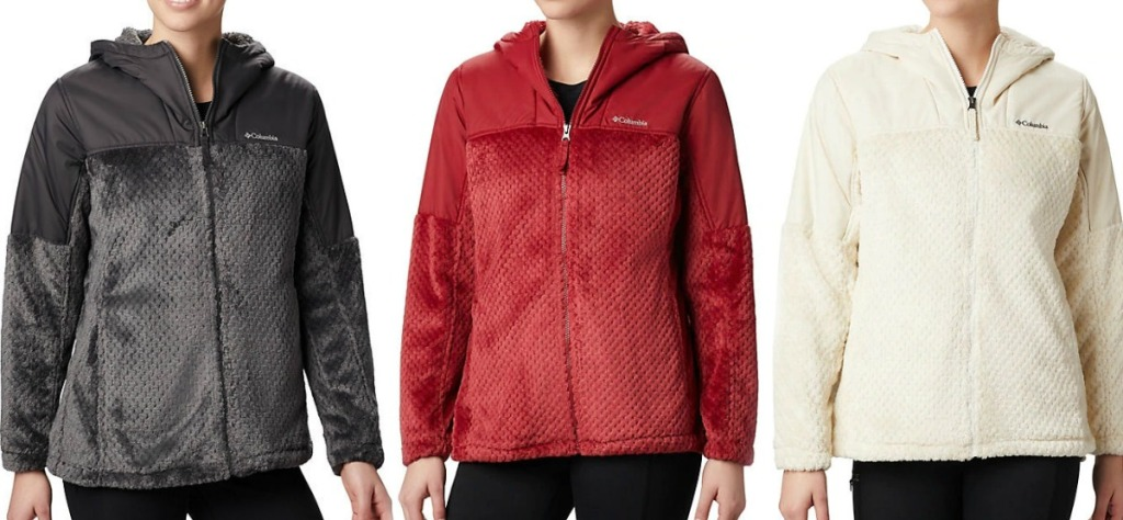 Women's Plus Columbia Jackets in three colors