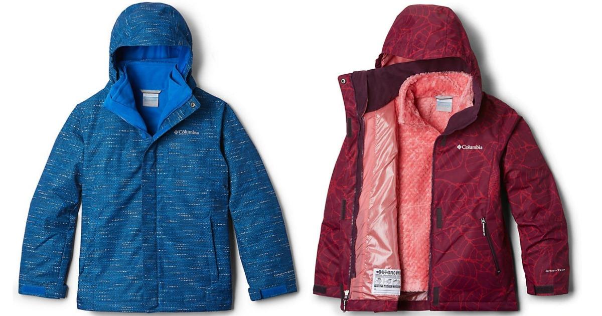 Columbia fleece interchangeable kids jackets