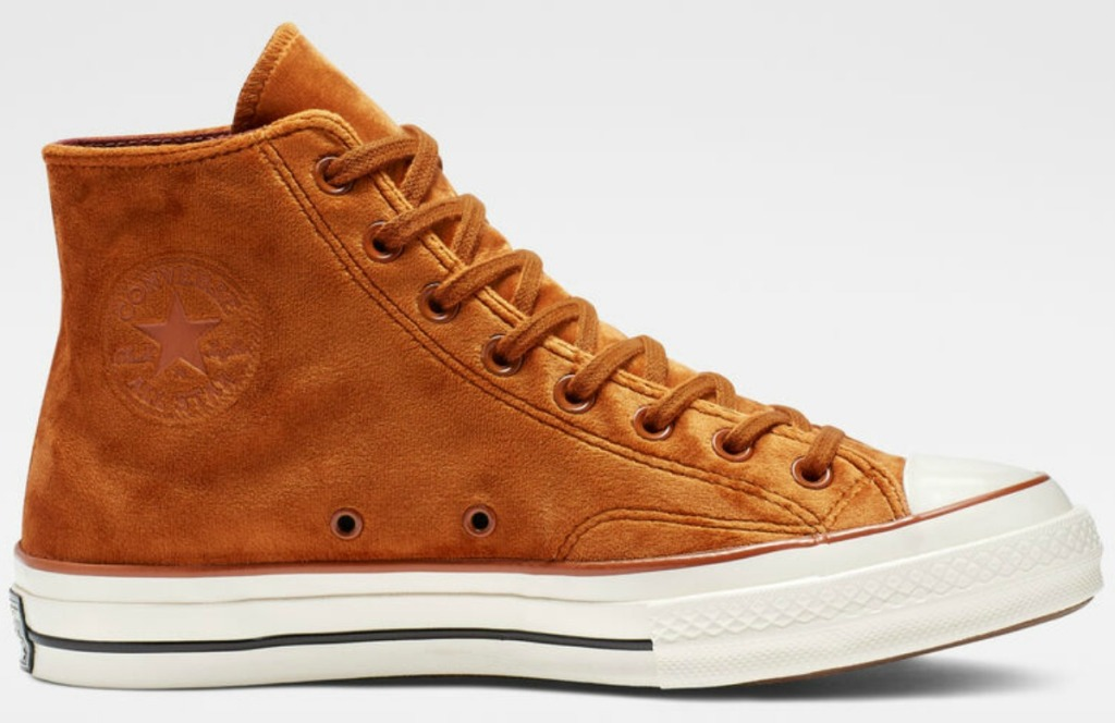 Converse Burnt Siena velvet women's shoe