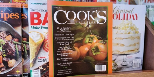 Cook's Illustrated Magazine TWO Year Subscription Only $16.49 Shipped