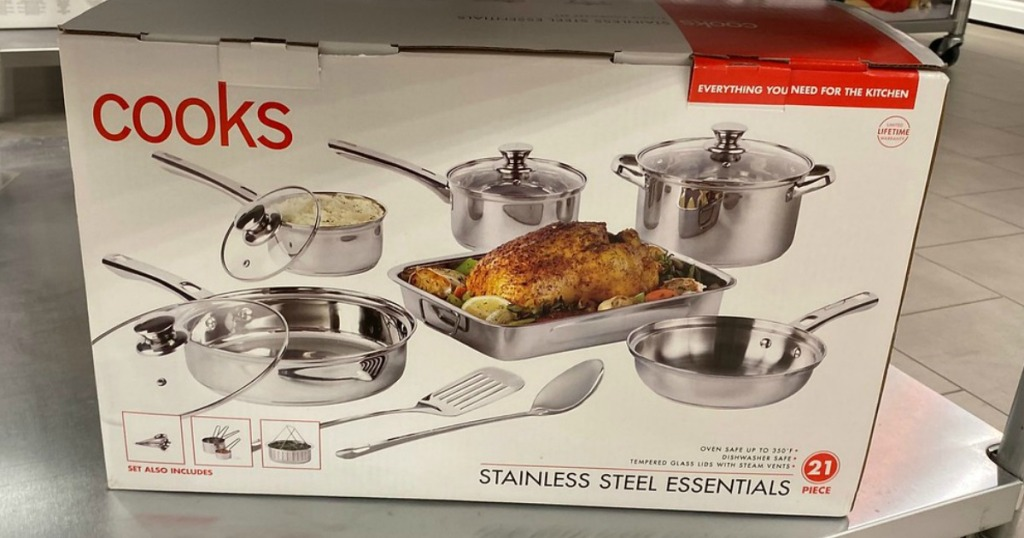 Cooks Stainless Steel Essentials on shelf at JCPenney