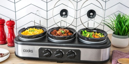 Cooks Triple Slow Cooker Only $26.99 at JCPenney (Regularly $80)