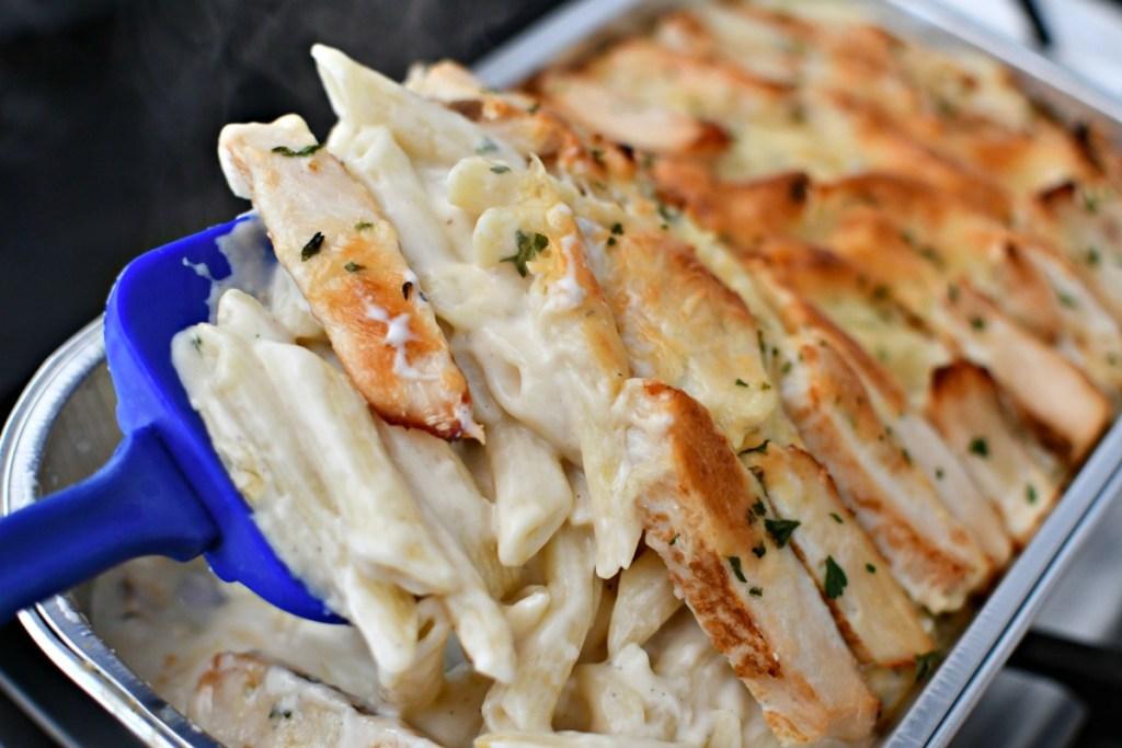 Costco Chicken Alfredo cooked