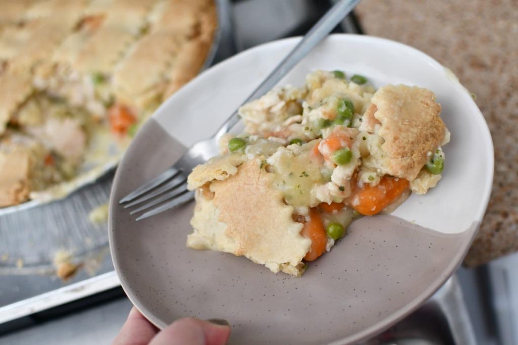 Costco Chicken Pot Pie in pan