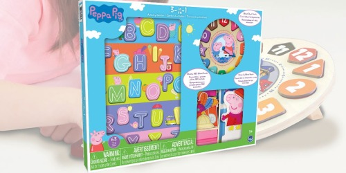 Paw Patrol & Peppa Pig 3-in-1 Character Wood Activity Center Only $14.97 Shipped