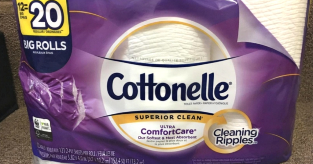 package of cottonelle ultracare toilet paper