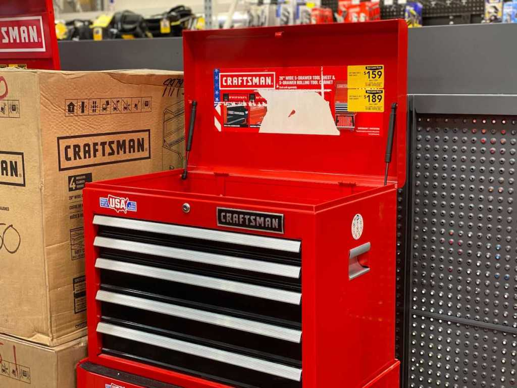 Craftsman Rolling Chest in store