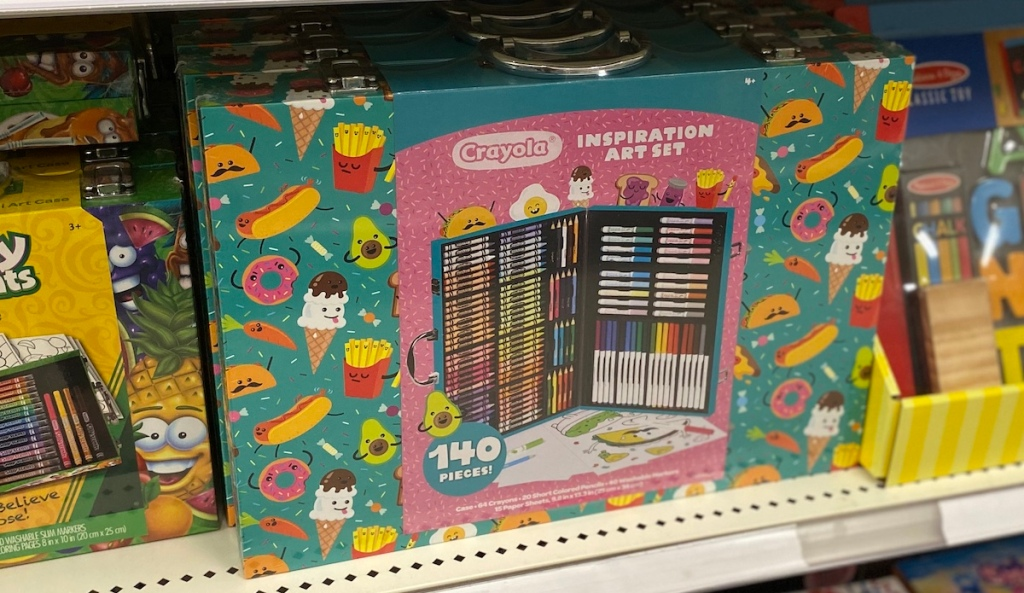 Crayola Inspiration Art Set on shelf at Target
