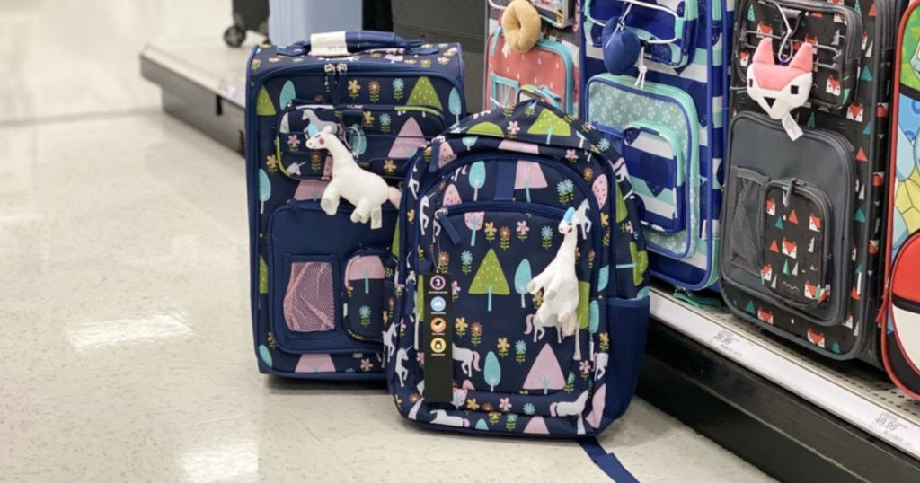 Crckt Unicorn Suitcase and Backpack at target