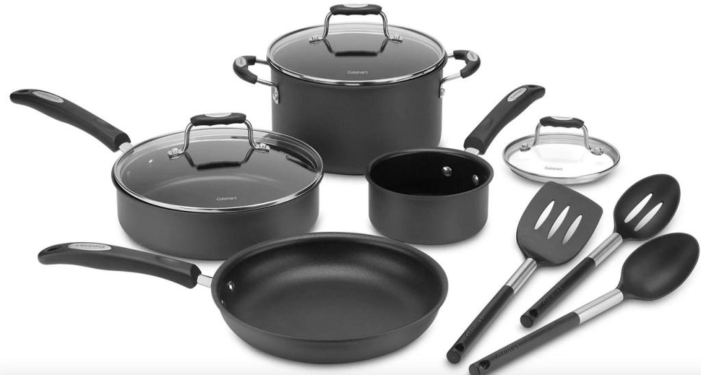 Cuisinart 10-Piece Hard-Anodized Cookware Set