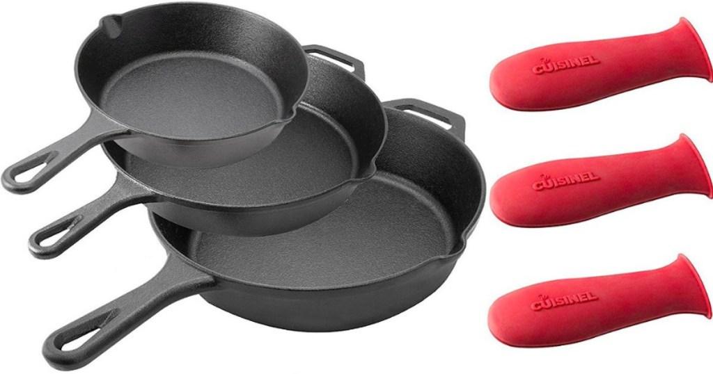 Cuisinel-Skillets-3-piece-set