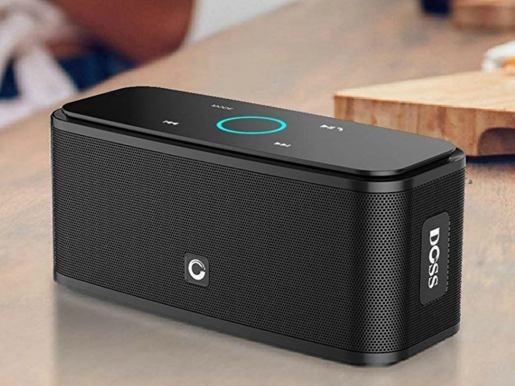 DOSS Bluetooth Speaker on table