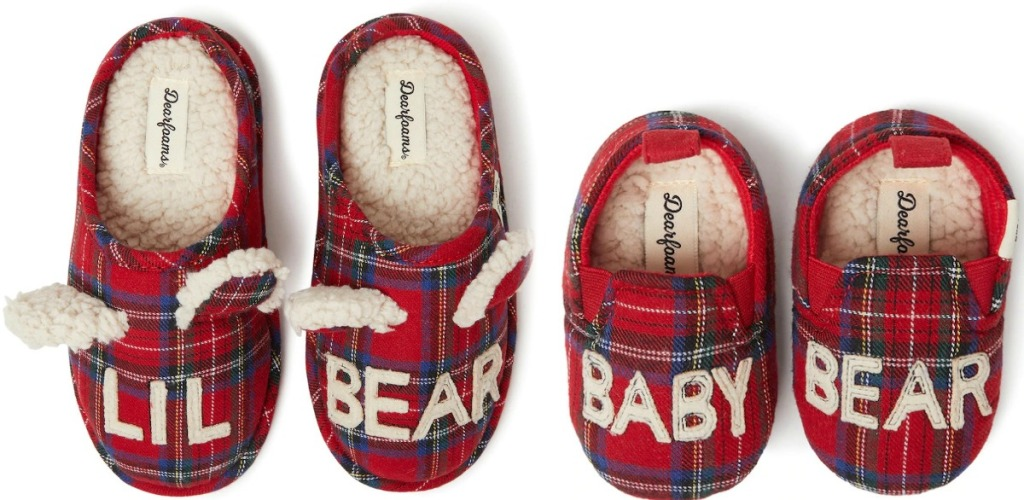 Two pairs of Dearfoams Kids & Baby Slippers