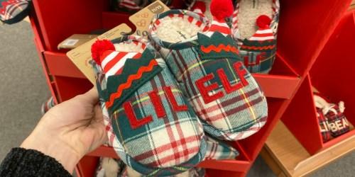 70% Off Dearfoams Kids Holiday Slippers on Kohl's