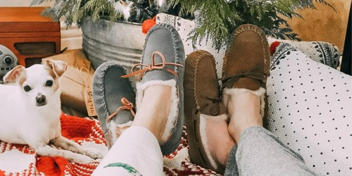 40% Off Dearfoams Genuine Australian Shearling Slippers | Water Resistant & Highly Rated