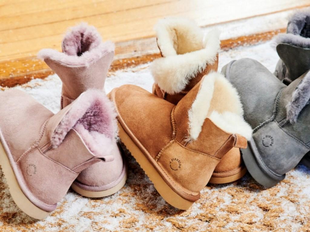 Dearfoams Women's slip on booties in three colors