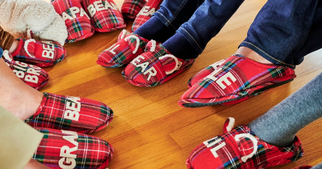 Dearfoams-family-slippers