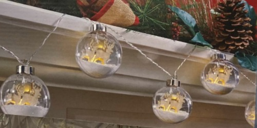 Trendy LED Snow Globe Ornament Lights Only $19.99 at JOANN (Regularly $40) | Reindeer or Tree