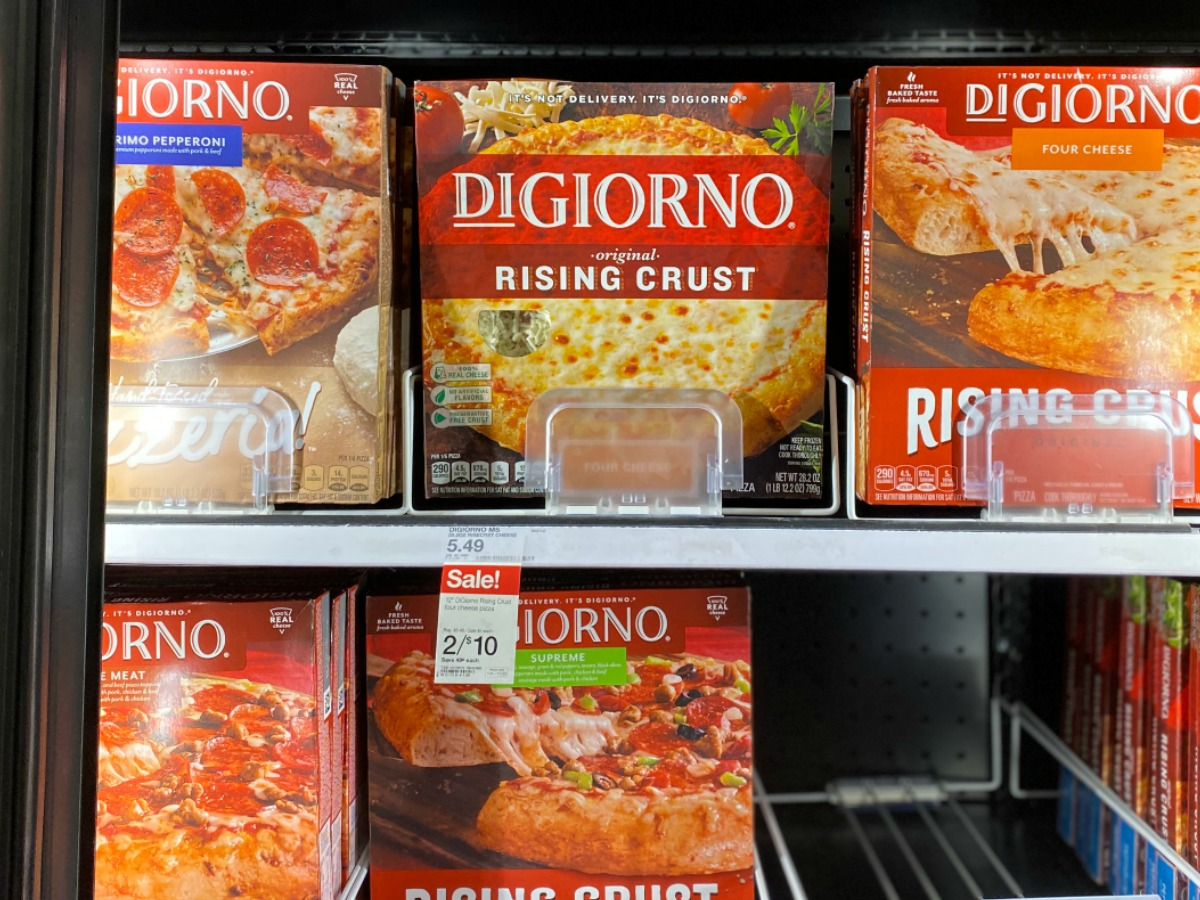 DiGiorno Pizza at Target in freezer section