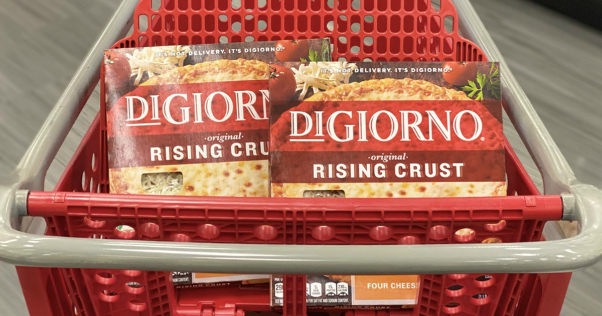 DiGiorno Pizza in the Target cart