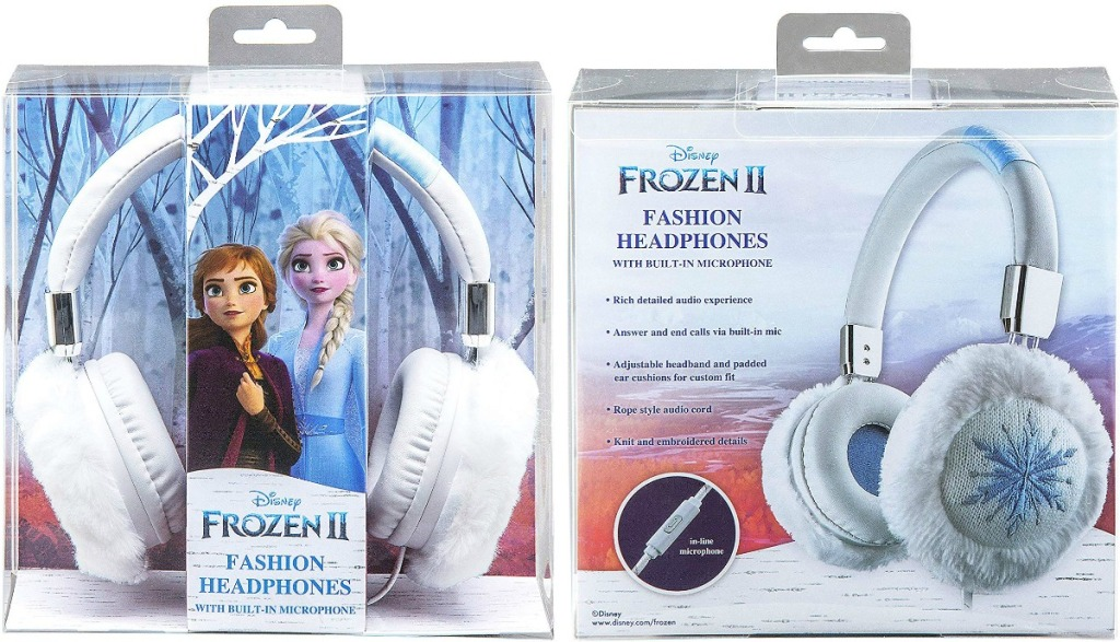 Front and back view on Frozen 2 Headphones in package