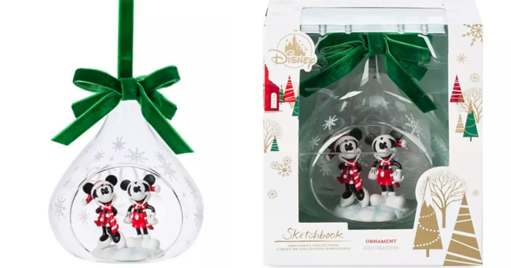 Disney Mickey and Minnie Ornament and box