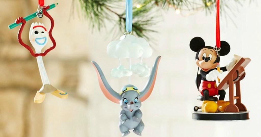 Disney Ornaments on tree