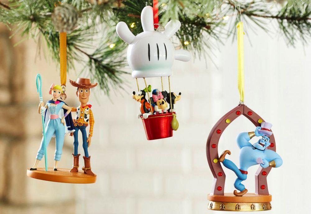 Disney Ornaments on a tree