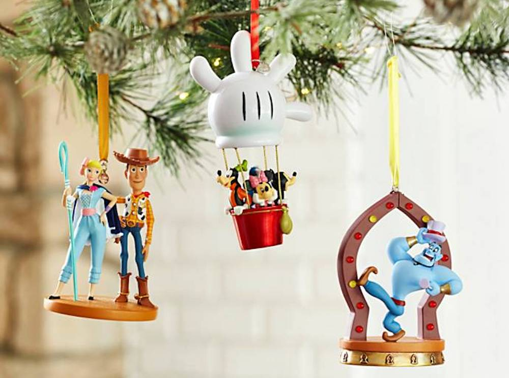 Disney Store Ornaments on tree